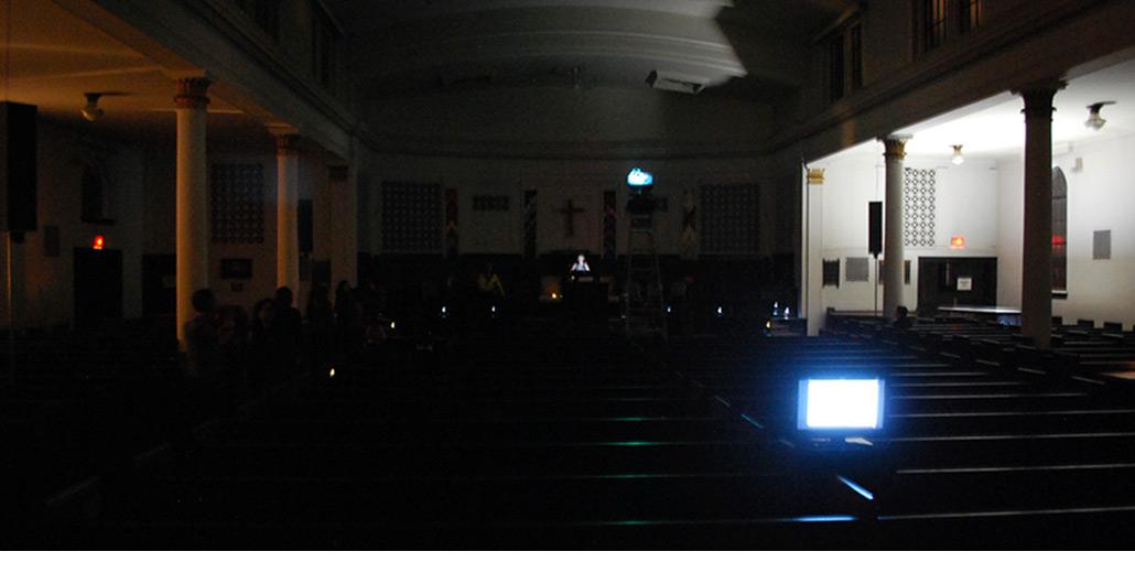 John Shipman, reading The Endless Proverb aloud at Nuit Blanche Toronto 2013